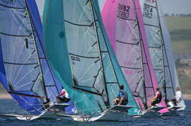 49ers racing at World Championships in Weymouth