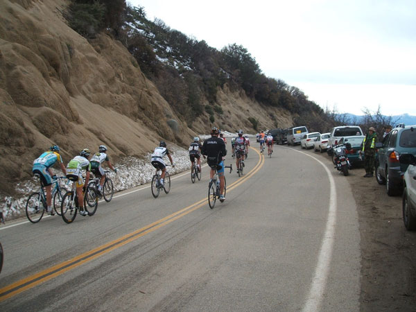 descending with the peloton...