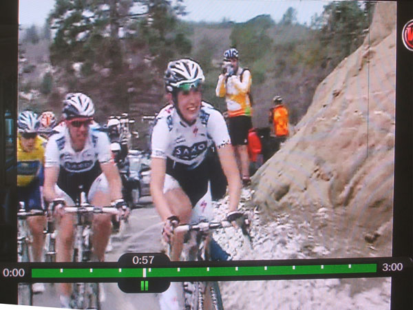 me on TV on Palomar... shooting the leaders cresting the summit