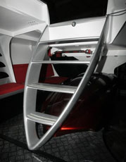 Alfa Romeo - fast and cool - the companionway ladder looks like an Alfa grill