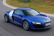 test driving the Audi R8