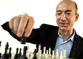 Jeff Bezos playing chess