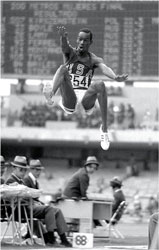 Bob Beamon long jump at Mexico Olympics