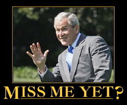 Bush: miss me yet?