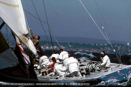 Dennis Connor wins America's Cup in Freemantle, Australia