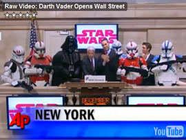 Darth Vadar opens the NYSE