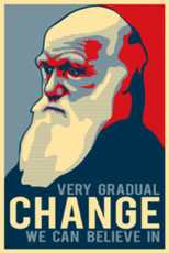 Darwin: very gradual change you can believe in