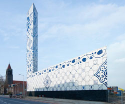 powerplant clad in Delfts Blauw tiles
