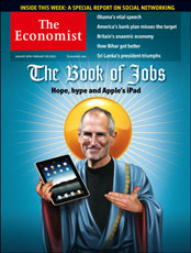Economist cover with Steve Jobs and iPad