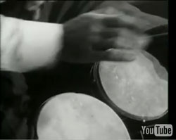 Richard Feynman plays the bongos