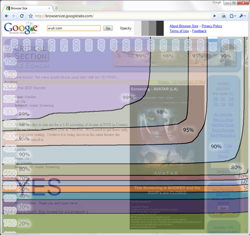 Google Browser Size with w-uh.com loaded...