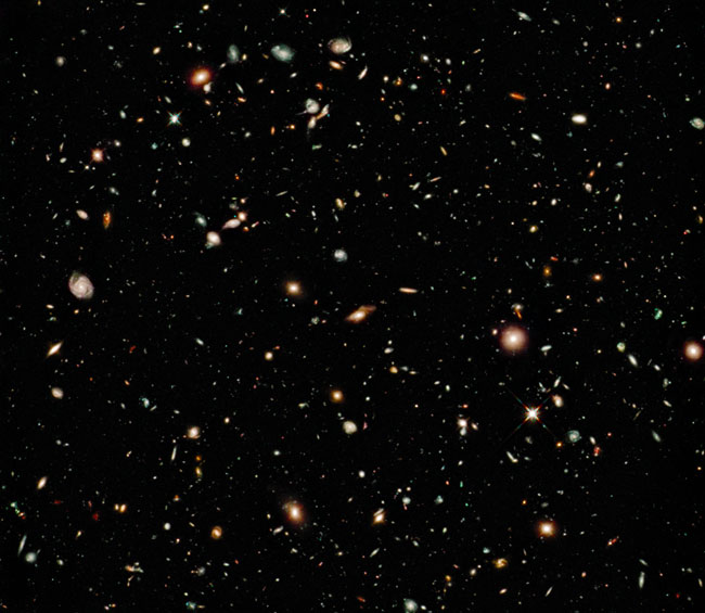Hubble ultra deepfield photo montage