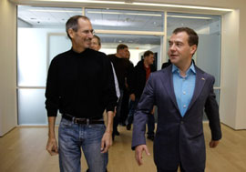 Steve Jobs with Russian President Dmirty Medvedev