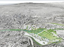 Los Angeles dreams of a new downtown river park