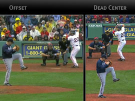 MLB camera angle - off center vs center