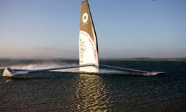 Macquarie Innovation - 53.23 knots in a sailboat!