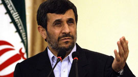 Iranian President Mahmoud Ahmadinejad addresses the U.N.