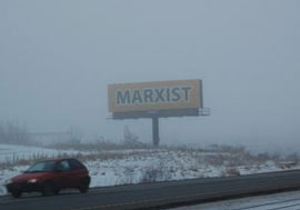 """Marxist"" sign"