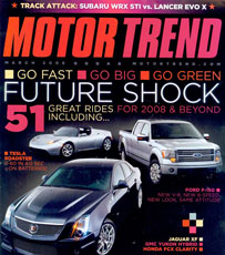 MotorTrend magazine: future shocked...