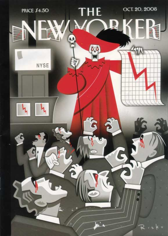 "New Yorker cover 10/20/08 - ""red scare"""