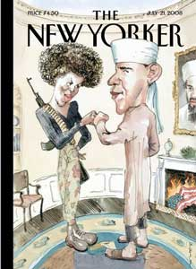 New Yorker cover of Barack and Michele Obama