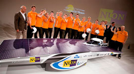 Delft University's Nuon solor car