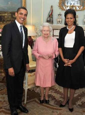 Obama's with Queen of England
