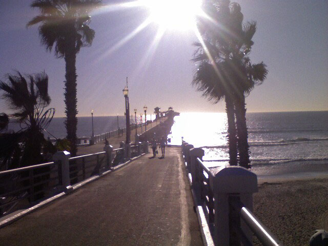perfect day: the Oceanside pier in the sun