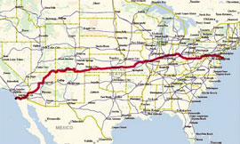 RAAM 2009 route map
