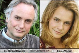 Richard Dawkins totally looks like Emma Watson