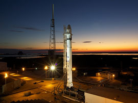 SpaceX Falcon 9 on launch pad
