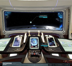A panorama of the Enterprise's bridge, from Star Trek