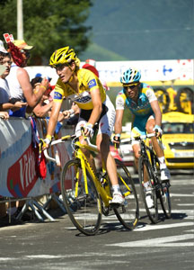 Andy Schleck and Alberto Contador marked each other all day