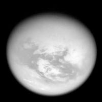 methane storm over Titan