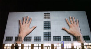 Urbanscreen's amazing 3D projection on the side of a building