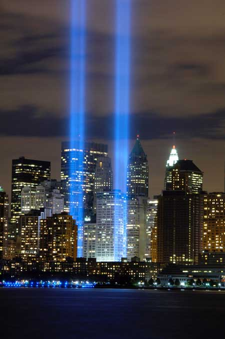 World Trade Center ghost spotlights
