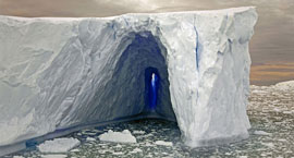 anarctic iceberg tunnel