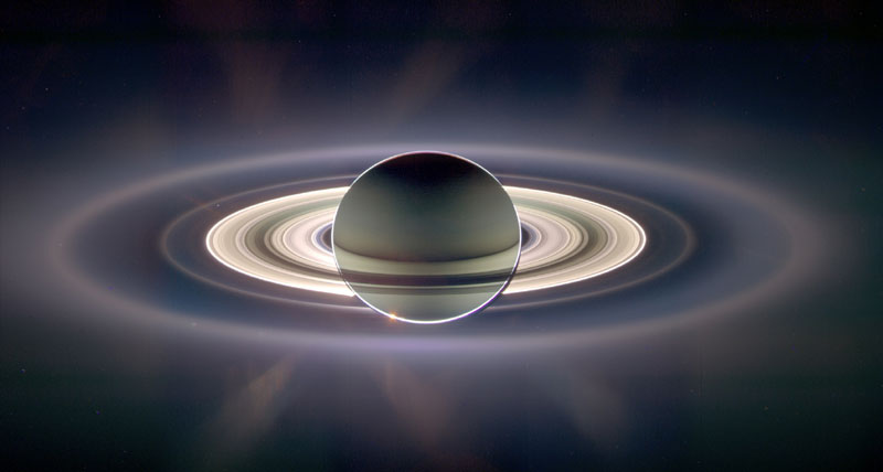 backlit Saturn