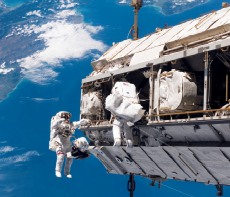 crew working on International Space Station