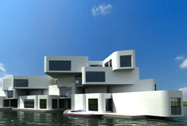 Dutch floating appartment complex