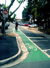 green bike lane!