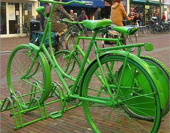 green bikes! - Happy St' Patrick's Day!