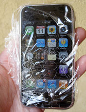 iPhone plastic wrap