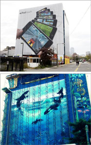 iPod billboard reverts to whale mural
