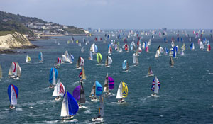 Round the Island Race, with 1,750 competitors