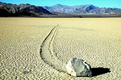sliding rock on Racetrack Playa