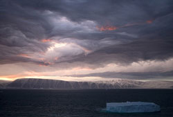weird storm over Greenland...