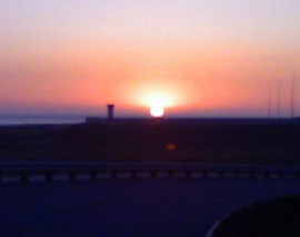 sunset at Camp Pendleton