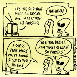 the Kessel run - in under 12 parsecs?