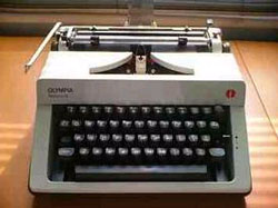 the iconic typewriter